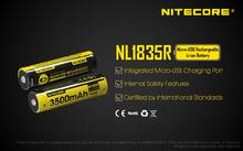 Аккумулятор Nitecore 18650 3500 mAh USB