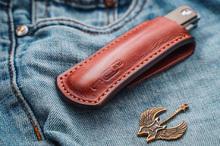 Чехол для складного ножа (коричневый)