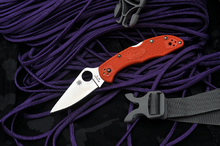 Spyderco Delica 4 Flat Ground Orange