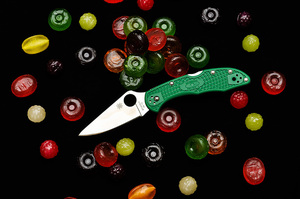 Spyderco Delica 4 Flat Ground Green