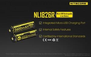 Аккумулятор Nitecore 18650 2600 mAh USB