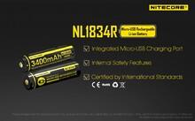Аккумулятор Nitecore 18650 3400 mAh USB