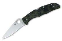 Spyderco Endura 4 Flat Ground Zome Green