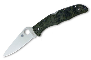 Spyderco Endura Flat Ground Zome Green